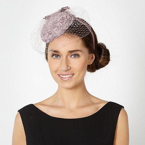 Debut - Lilac rose button top veil headband