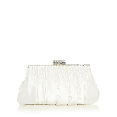 No. 1 Jenny Packham - Designer ivory pleated frame bag