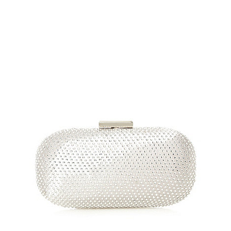 No. 1 Jenny Packham - Designer silver rhinestone clutch bag