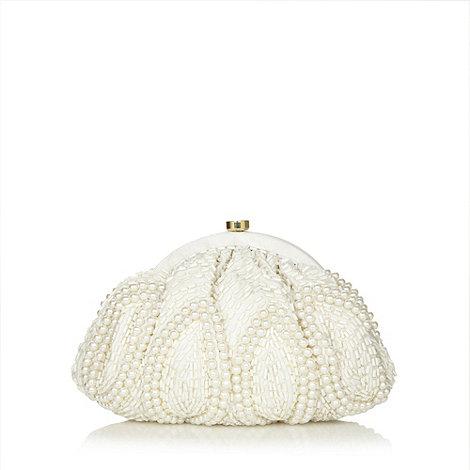 No. 1 Jenny Packham - Designer ivory beaded clutch bag