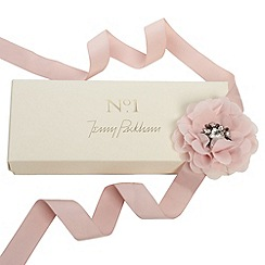 No. 1 Jenny Packham - Designer pink chiffon jewel corsage ribbon belt