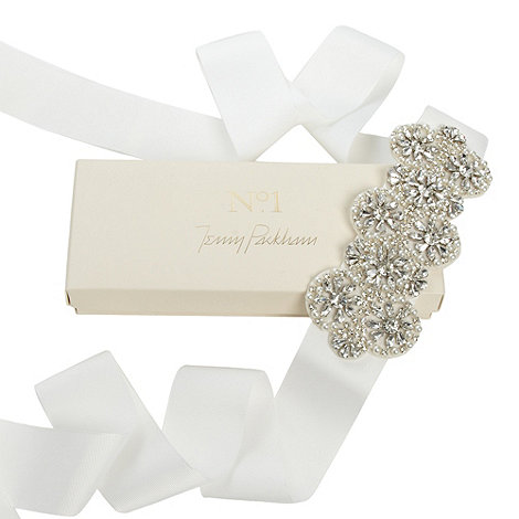 No. 1 Jenny Packham - Designer silver daisy bridal gown belt