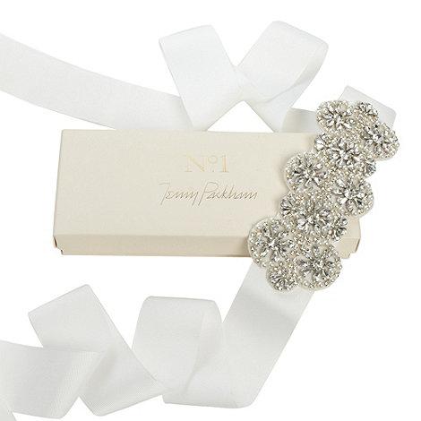No. 1 Jenny Packham - Designer silver daisy bridal gown belt