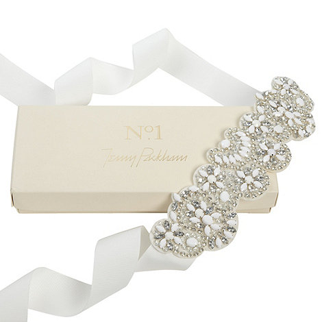 No. 1 Jenny Packham - Designer ivory diamante occasion belt