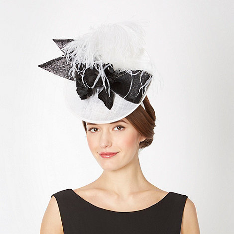 Top Hat by Stephen Jones - Designer white disc hair piece