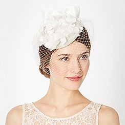 Top Hat by Stephen Jones - Designer ivory blossom button fascinator