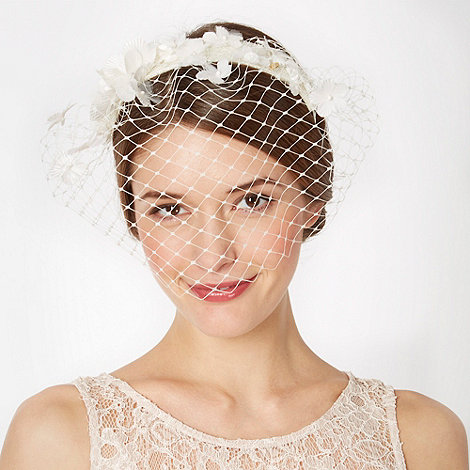 Top Hat by Stephen Jones - Designer ivory blossom veil fascinator