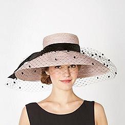 Top Hat by Stephen Jones - Designer lilac velvet bow veil hat