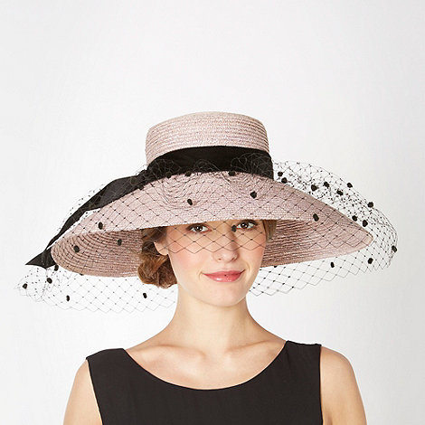 Top Hat by Stephen Jones - Designer lilac velvet bow veil hat