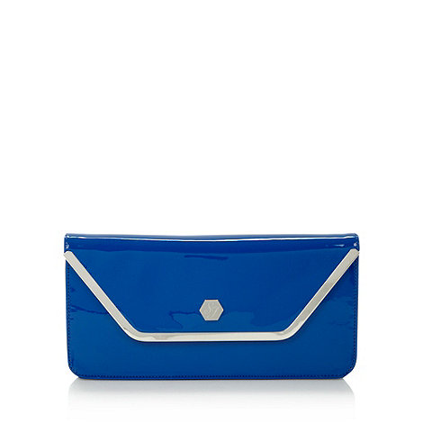 Top Hat by Stephen Jones - Designer blue patent envelope clutch bag