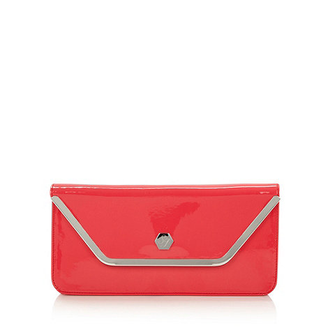 Top Hat by Stephen Jones - Designer cerise patent envelope clutch bag