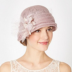 Top Hat by Stephen Jones - Designer lilac down brim cloche hat