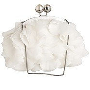 Ivory ruffle clutch bag - Evening & clutch bags - Accessories - Women -