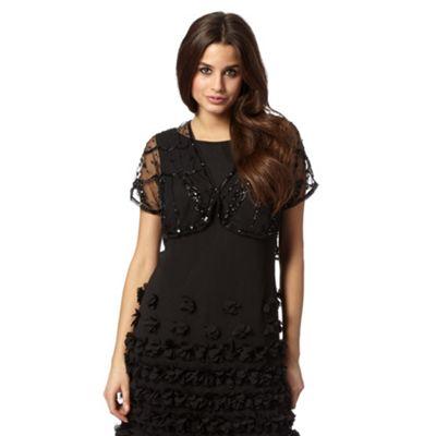Debut Black mesh sequin shrug