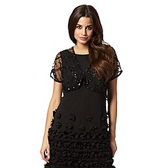Debut - Black mesh sequin shrug