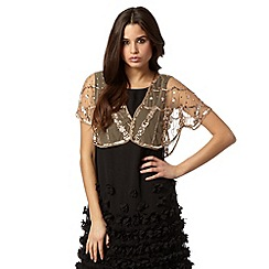 Debut - Natural sequin shrug