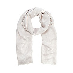 Debut - Light pink metallic jacquard pashmina