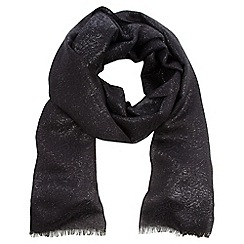 Debut - Black metallic jacquard pashmina