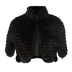 Star by Julien Macdonald - Black textured  faux fur jacket