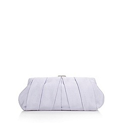 Debut - Light purple pleated clutch bag