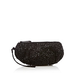 Debut - Black beaded wristlet purse
