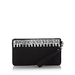 Debut - Black gem embellished clutch bag