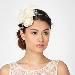 Debut - Ivory glitter flower hair piece