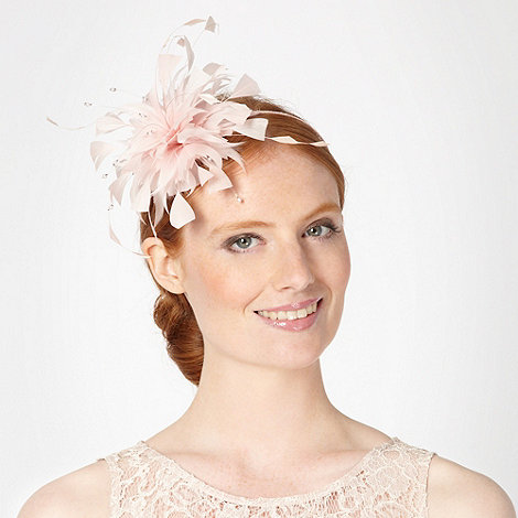 Debut - Light pink feather bead headband
