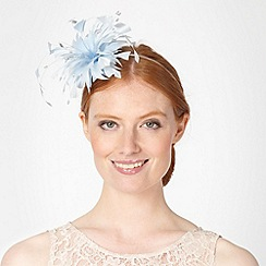 Debut - Light blue feather bead headband