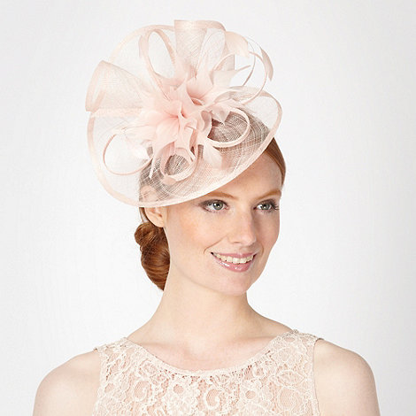 Debut - Light pink pointed feather corsage fascinator