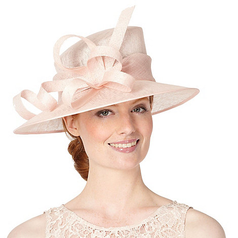 Hatbox - Light pink abstract curl trim occasion hat