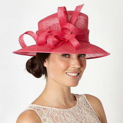 Hatbox - Pink abstract curl trim occasion hat