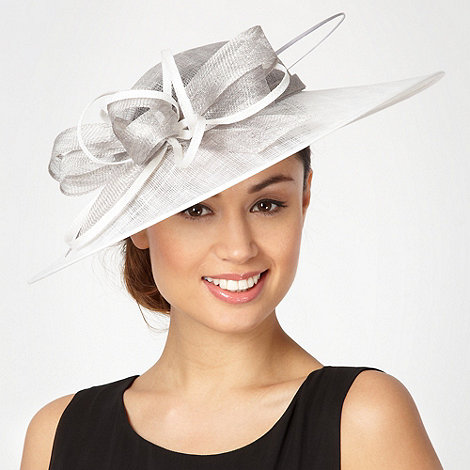 Hatbox - Light grey two tone bow hair piece