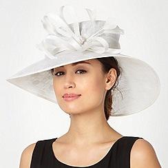 Hatbox - Ivory spotted down brim hat