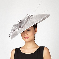 Hatbox - Light grey bow down brim hat
