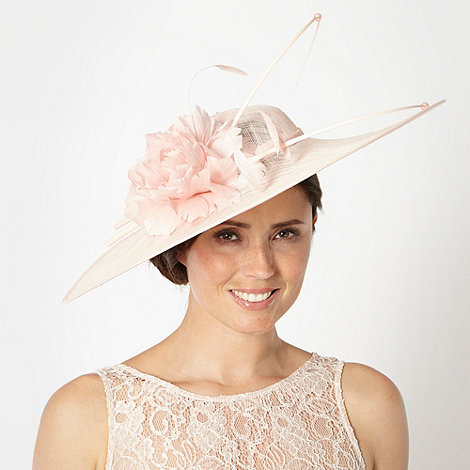 Hatbox - Light pink flower quill saucer fascinator