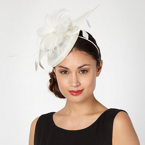 J by Jasper Conran - Designer white feather bow beret fascinator