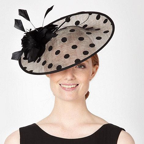 J by Jasper Conran - Designer black polka dot saucer fascinator