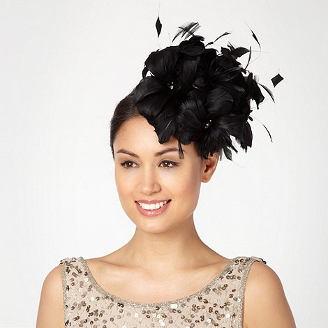 J by Jasper Conran - Designer black floral feather head band