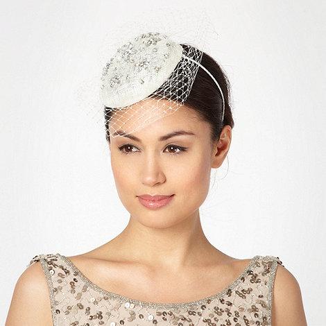 J by Jasper Conran - Designer ivory embellished veil hair piece