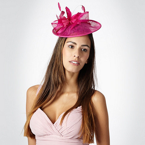 Debut - Bright pink lamour saucer fascinator