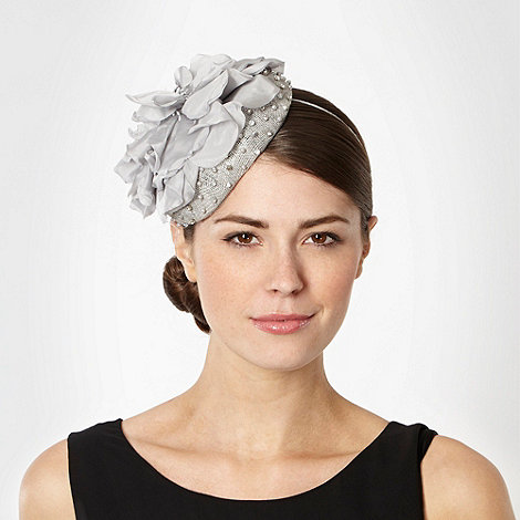 Debut - Grey embellished flower hair piece