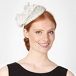 Debut - Ivory embellished flower hair piece
