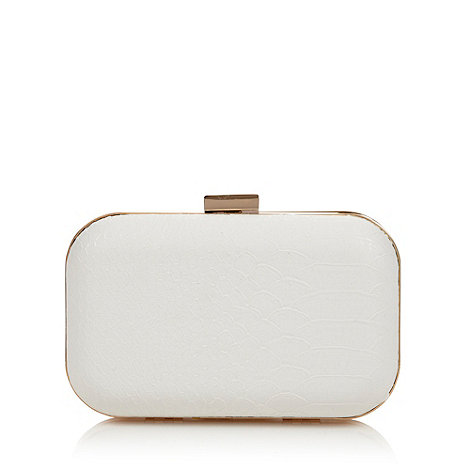 Star by Julien Macdonald - Designer white faux snakeskin clutch bag