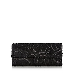 Star by Julien MacDonald - Designer black sequin clutch bag
