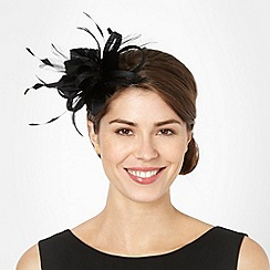 Principles by Ben de Lisi - Black 'alex' feathered hair band