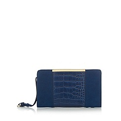 Principles by Ben de Lisi - Designer navy snake panel clutch bag