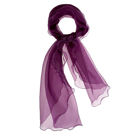 Debut - Purple organza ruffle stole
