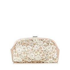 No. 1 Jenny Packham - Designer natural embellished 3D floral clutch bag