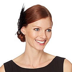 No. 1 Jenny Packham - Designer black feather art deco hair clip